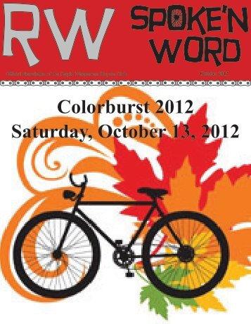 Colorburst 2012 Saturday, October 13, 2012 - Rapid Wheelmen