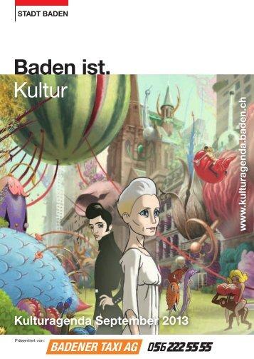 Kulturagenda September 2013 - Veranstaltungen - Stadt Baden