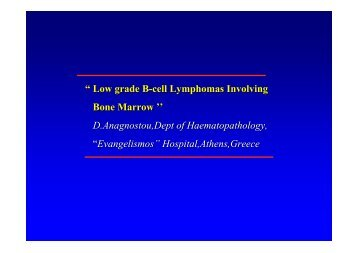 """ Low grade B-cell Lymphomas Involving Bone Marrow '' D ... - NCI"