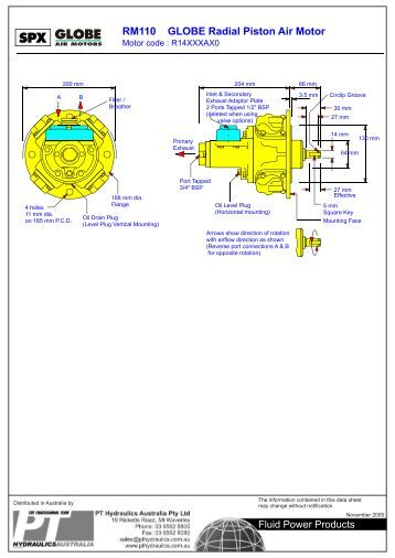 Table of contents motor for Piston type air motor