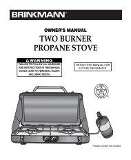 TWO BURNER PROPANE STOVE - Brinkmann