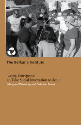 Using Emergence to Take Social Innovation to Scale - The Berkana ...