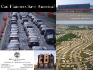 Can Planners Save America?