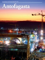 Antofagasta Annual Report and Financial ... - Antofagasta plc