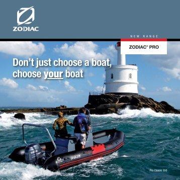 Zodiac Pro Range 2013 - Western Marine