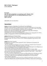 Protokoll vom 06.10.2012 - DIE LINKE. Thüringen