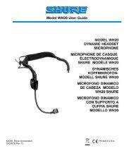 Model WH20 User Guide - J&H Licht en Geluid