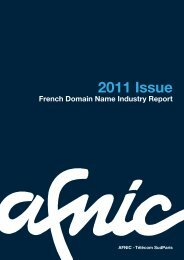 Download the 2011 French Domain Name Industry Report - Afnic