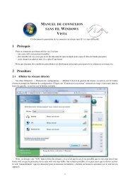 Windows Vista - VIA Centrale Réseaux