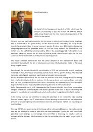 Letter to Shareholders of ACTION Capital Group - 2010 - Action S.A.