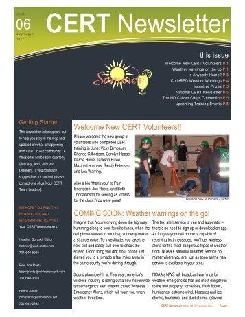 CERT Newsletter - Issue 6 - July 2012