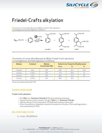 Friedel-Crafts alkylation - Silicycle