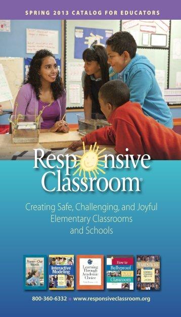 NEFC Spring 2013 Catalog corrected - Responsive Classroom