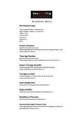 BREAKFAST MENU - Executive Hotels and Resorts