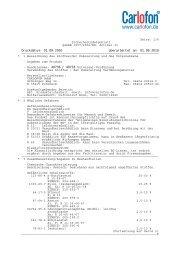 Seite: 1/8 Sicherheitsdatenblatt gemäß 1907/2006/EG ... - Carlofon