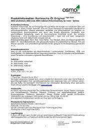 Produktinformation als PDF - Osmo