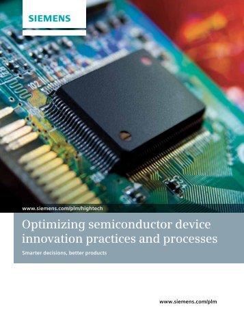 Semiconductor Industry Brochure - Siemens PLM Software