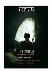 INSIDIOUS PresseHeft - Thimfilm
