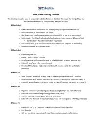 Small Event Planning Timeline