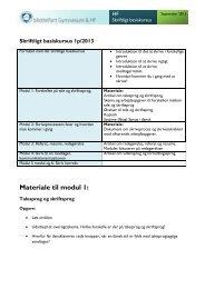 Materiale til modul 1: - Middelfart Gymnasium og HF