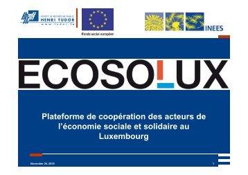 ECOSOLUX - CRP Henri Tudor