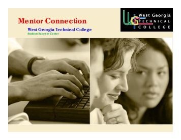 Mentor Connection Training - West Georgia Technical College