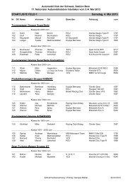 Startliste REG+NAT - ACS Automobil-Club der Schweiz