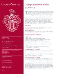 College Admission Profile 2011–12 - The Loomis Chaffee School