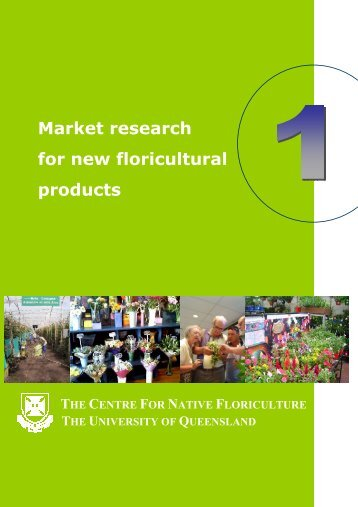 How to scan the market for new floricultural products - University of ...