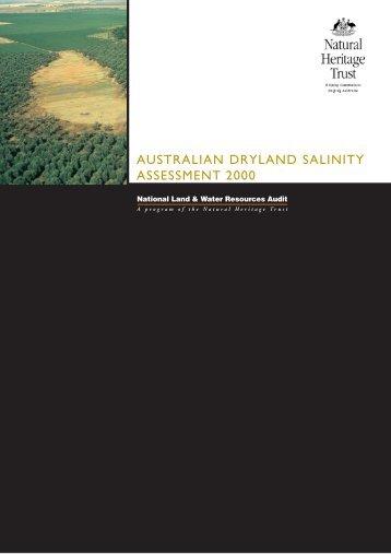 australian dryland salinity assessment 2000 - National Program for ...