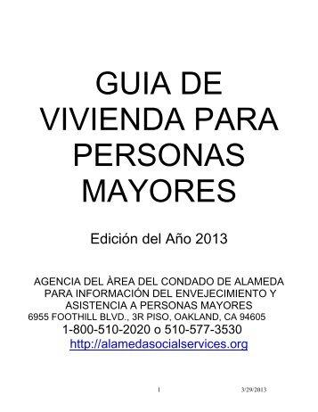 guia de vivienda para personas mayores - Alameda County Social ...