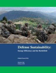 DEPARTMENT OF DEFENSE SUSTAINABILITY - Global Green USA
