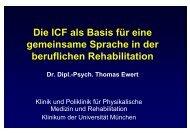 Die ICF als Basis für eine gemeinsame Sprache in der beruflichen ...