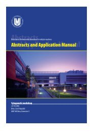 Abstracts and Application Manual