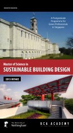 Master of Science in SuStainable building deSign - BCA Academy