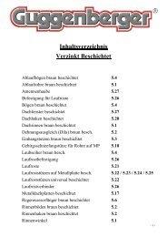 Inhaltsverzeichnis Verzinkt Beschichtet