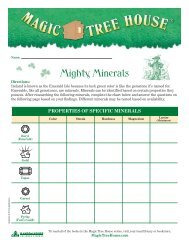 Mighty Minerals - Magic Tree House