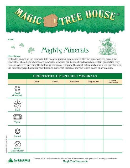 Mighty Minerals Magic Tree House