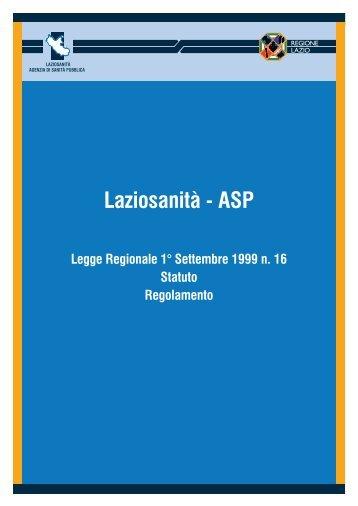 Legge, Statuto e Regolamento Laziosanità - ASP