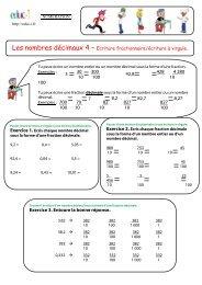Les nombres décimaux 4 – Ecriture fractionnaire ... - Pass Education