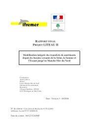 Rapport final projet Liteau II - Modélisation intégrée des ... - Ifremer