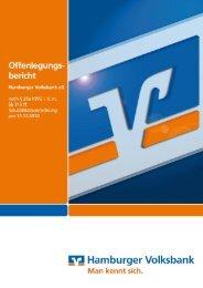 Offenlegungsbericht per 31.12.2010 - Hamburger Volksbank