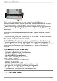 Abkantpresse Technika Plus - TM Systeme+Maschinen