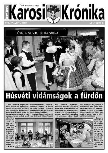 2013. április 4-i szám - Zalakaros
