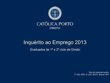 Empregabilidade na ED - Universidade Católica Portuguesa