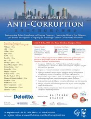 China Summit on Anti-Corruption - Squire Sanders