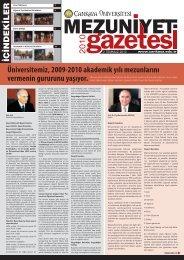 2009-2010 Akademik Yılı Etkinlikleri - Çankaya Üniversitesi