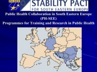 Programmes for Training and Research in Public Health