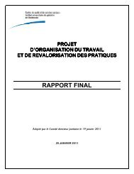 Rapport final - Projet d'organisation du travail et de ... - Csss-iugs.ca