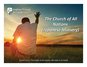 Japanese Ministry - Anglican Network in Canada
